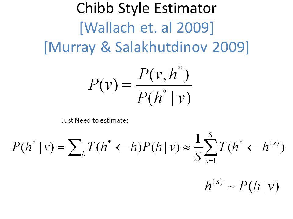 Chibb Style Estimator [Wallach et